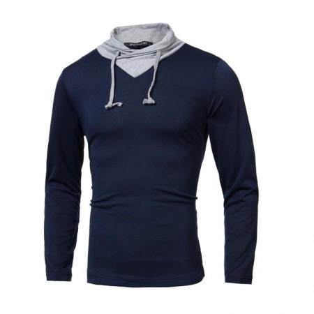 Camiseta de Inverno Gola Olímpica Masculina Manga Longa