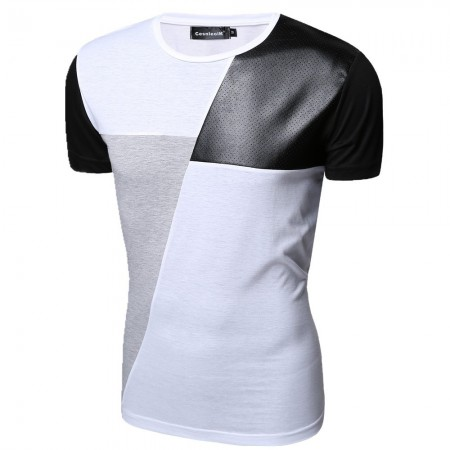 Shirt Party Club Men's Casual Stylish Leather White Modern