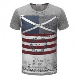 Camiseta Estampada Americana Esporte Fino Casual Masculina Básica