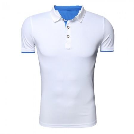 Camiseta Gola Polo Básica Lisa Casual Esporte Masculina Manga Curta