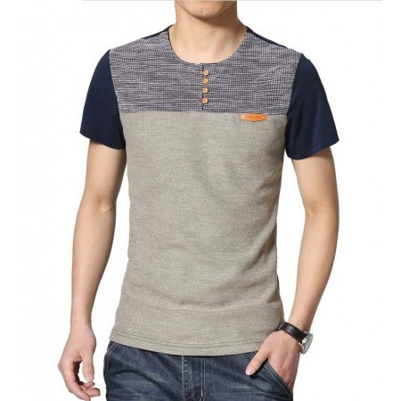 Shirt Men's Casual Calitta Student Modern Patchwork