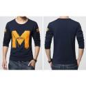 Stamped shirt Men's Slim Fit Long Sleeve M Metro