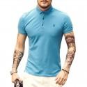 Camiseta Polo Masculina Verão Esporte Fino Varias Cores Calitta Casual