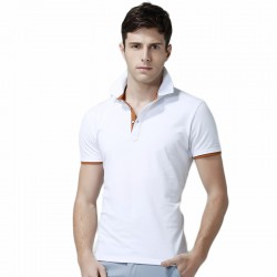 Polo Basic Lisa Men's Casual Slim Fit Stylish White
