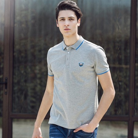 Polo Shirt Grey Social Men's Sport Thin Lisa English Gola