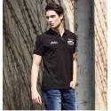 Camisa Esporte Pólo Masculina Preta Casual de Verão Básica Elegante