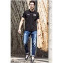 Shirt Sport Polo Black Men's Casual Summer Basic Elegant
