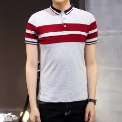 Camiseta Polo Listrada Esporte Fino Casual Masculina Gola Inglesa