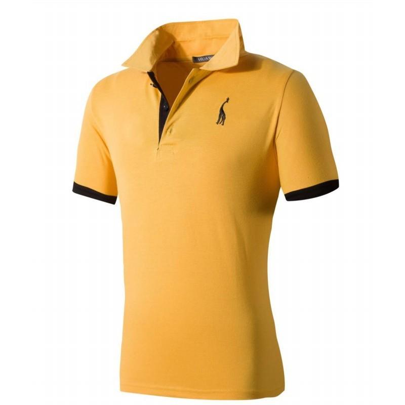 Camiseta Pólo Slim Fit Esporte Fino Masculino Casual Lisa de Verão c0ee55329dee4