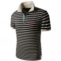 Polo shirt Men's Striped Holiday Summer Casual Thin Espore