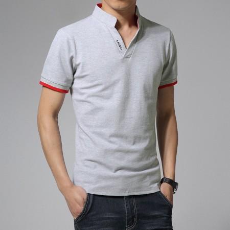 Camiseta Pólo Mandarim Esporte Fino Masculina Casual Manga Longa