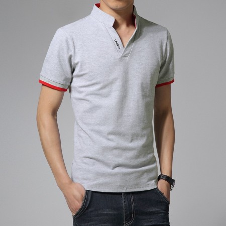 Polo shirt Mandarin Sport Thin Men's Casual Long Sleeve