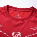 Camiseta T Esportiva Treino Academia e Futebol Vermelha Masculina Fina