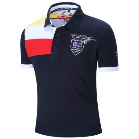 Polo Shirt Summer Social Men's Sport Elegant Casual Coat