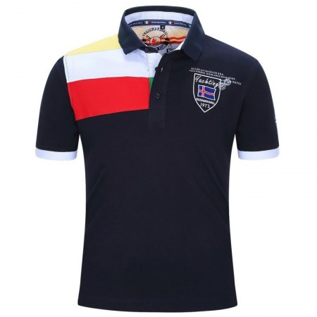 Polo Shirt Summer Social Men's Sport Elegant Casual Coat