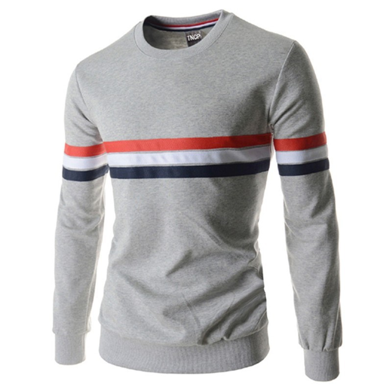 T shirt Slim Men's Winter sport with stripes Long Sleeve