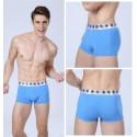 Cueca Boxer Azul Masculina Lisa Básica Calvin Bordada Diversas Cores Sol