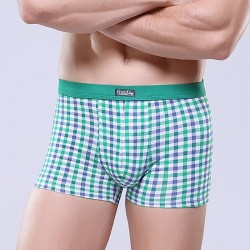 Underpants Green Chess Stamped Men Comfortable Various Color Sex