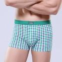 Cueca Verde Xadrez Estampada Masculina Confortável Diversas Cores Sex