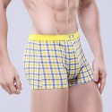 Underpants Yellow Chess Stamped Men Comfortable Various Color Sex