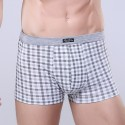 Underpants Gray Chess Stamped Men Comfortable Various Color Sex