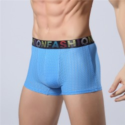 Underwear Blue Boxer Breathable Fashion Sex Stretchable Fiber
