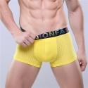 Cueca Boxer Amarela Masculina Respiravel Fashion Sex de Fibra Esticavel
