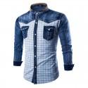 Jaqueta Branca Festa Sertaneja Country Xadrez Camisa Jeans Esporte Rodeio