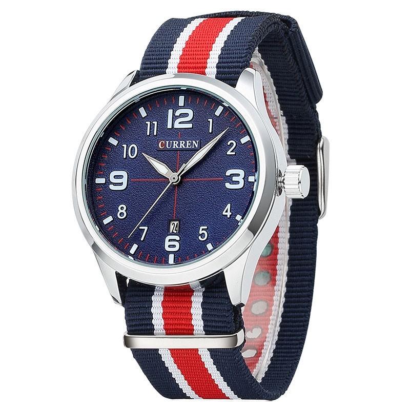 Relógio Azul Masculina Tecido Casual Jovem Esportivo Da