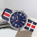 Relógio Masculina Tecido Casual Jovem Esportivo da Moda Pulseira Colorida