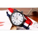 Watch White Men's Fabric Casual Young Sports Fashion Color Bracelet
