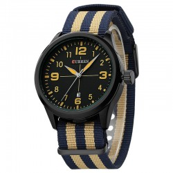 Watch Brown White Men's Fabric Casual Young Sports Fashion Color Bracelet