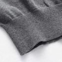 Camiseta Blusão Listrada de Inverno Masculina Manga Longa em Lã