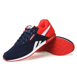 Sneakers Red Sport Shoes Men's Casual Fashion Academy Fitness Training