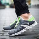 Tênis Verde Masculino Treino Carrida Sapatos Fitness Moderno com Amortecedor