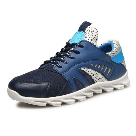 Tênis Azul Masculino Treino Carrida Sapatos Fitness Moderno com Amortecedor