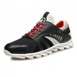 Tênis Vermelho Masculino Treino Carrida Sapatos Fitness Moderno com Amortecedor