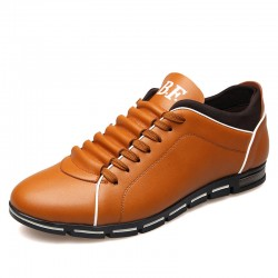 Shoes Social Yellow Male Leather Elegant Casual Shoe