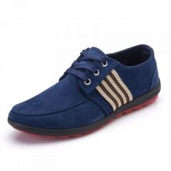 Sapatilha Casual Flat Masculino Azul Social Esporte Rasteiro Sapato