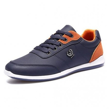 Navy Blue Shoes Male' Modern Beautiful Elegant Social Sport