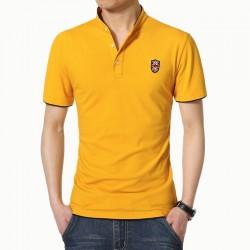 Camisa Polo Casual Masculina Esporte Bordado
