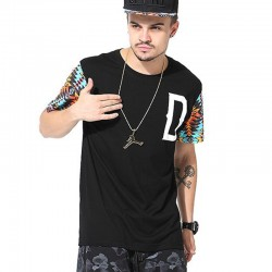 Fashion T-Shirt Black Urban Hip Hop Men's Funk Kings Casual Summer
