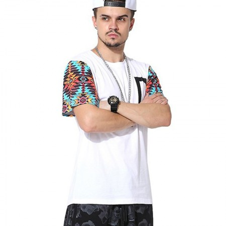 Fashion T-Shirt White Urban Hip Hop Men's Funk Kings Casual Summer
