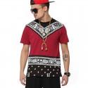 Camisas Egípcias Last Kings Vermelha Masculinas Balada Funk Urbana Música Hip Hop