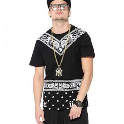 Camiseta Egípcias Last Kings Preta Masculinas Balada Funk Urbana Música Hip Hop