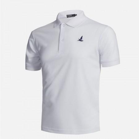 Camisa Polo Básica Casual Masculina Lisa
