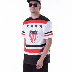Camiseta Medusa UNKUT Branca Masculinas Balada Funk Esporte Hip Hop