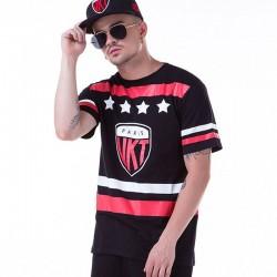 Camiseta Esporte UNKUT Preta Masculinas Balada Funk Esporte Hip Hop