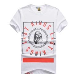 Camiseta Egípcias Last Kings Preta e Branco Masculinas Balada Funk Urbana Música Hip Hop