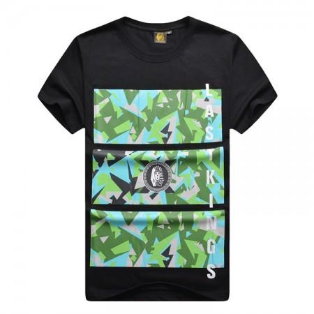 T Shirt Last Kings Black and White Men's Hip-Hop Ballad Funk Urban Hip Hop Music